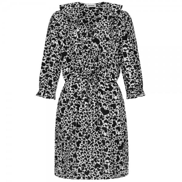 Mini-Kleid RONI PRINT COEUR aus Seide