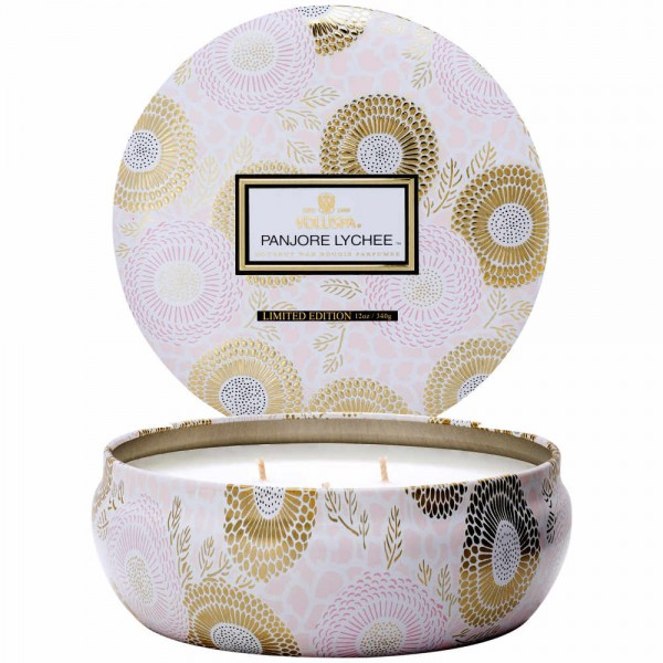 3-Wick Tin Candle PANJORE LYCHEE