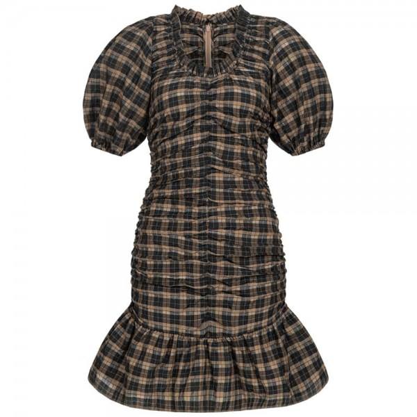 Kleid SEERSUCKER mit Karomuster
