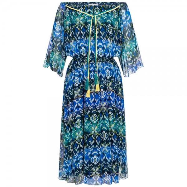 Midi-Kleid mit Carmen-Ausschnitt