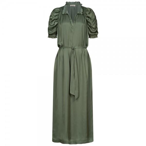 Maxi-Kleid RAY SATIN mit gerafften Ärmeln