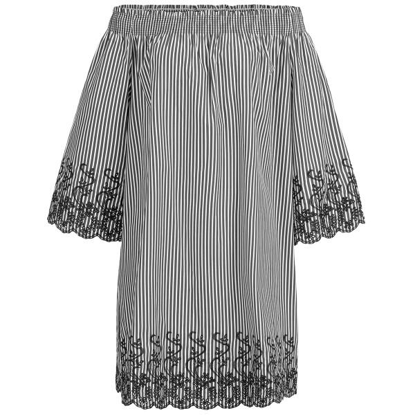 Off-Shoulder-Kleid mit Stickerei
