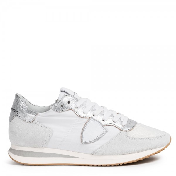 Sneaker TROPEZ Metal Blanc Argent