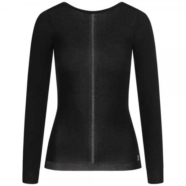Feinstrick-Pullover mit Rücken-Ausschnitt