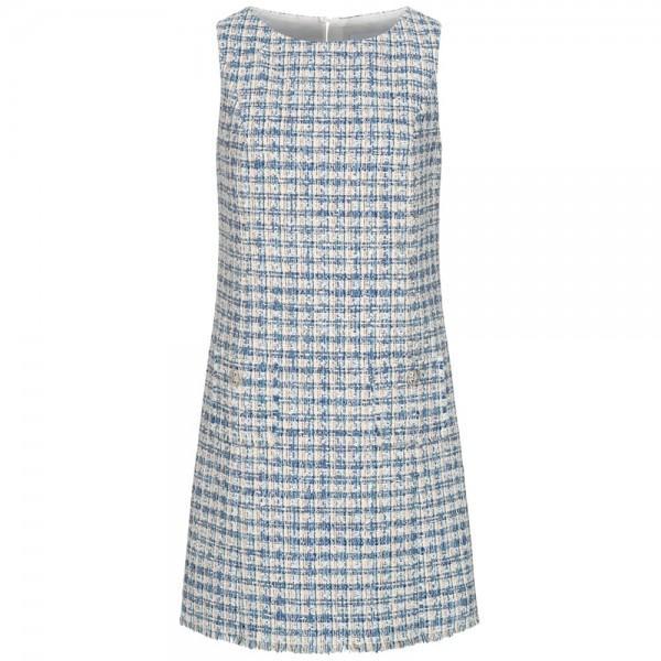 Tweed-Kleid mit Fransen-Details