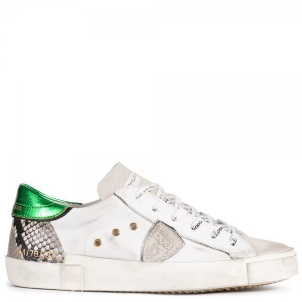 Sneaker PHYTON BLANC ROCHE VERT aus Leder