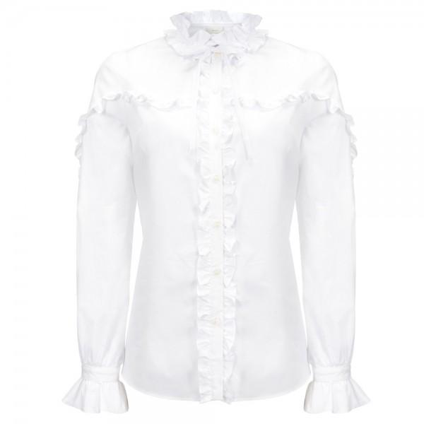 Bluse aus Stretch-Popeline