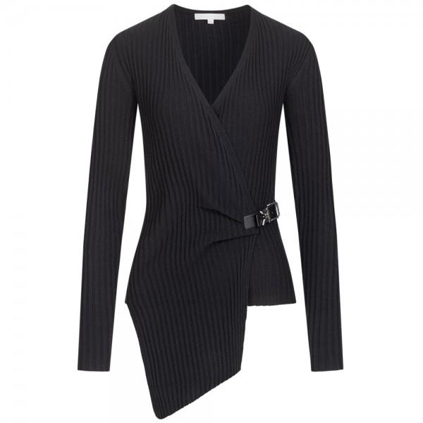 Asymmetrischer Pullover mit Riegel
