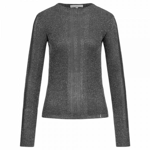 Lurex-Pullover mit Viskose