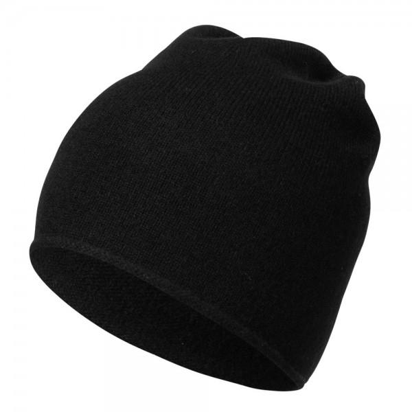 Cashmere-Mütze mit Rollkante