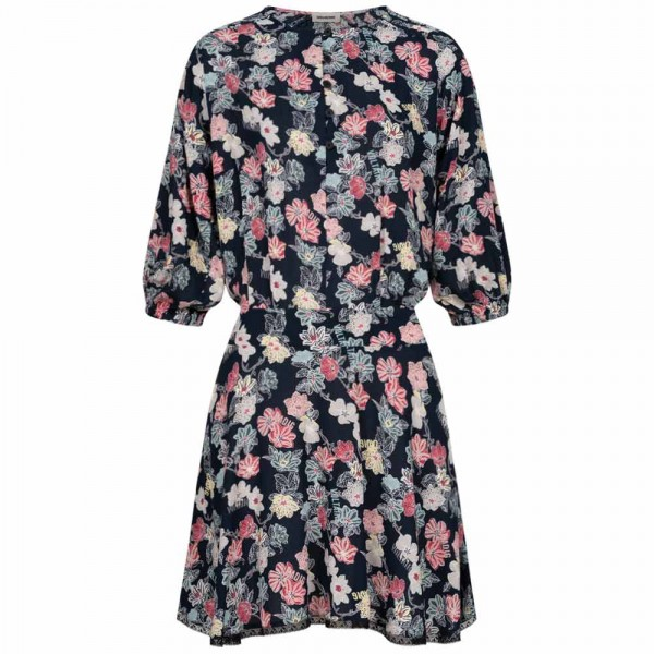 Tunika-Kleid RASPALI PRINT FLOWERS aus Viskose