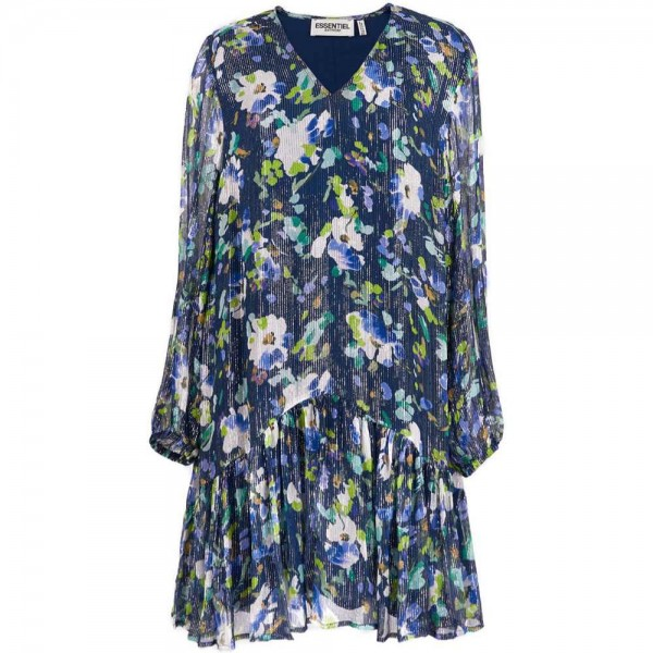 Kleid VAUTO TRIANGULAR FRILL aus Viskose
