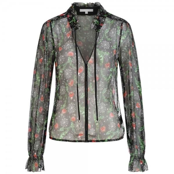 Bluse mit Blumenprint aus Viskose