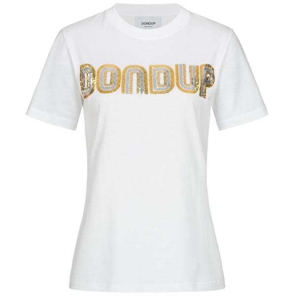 Shirt mit Label-Pailletten