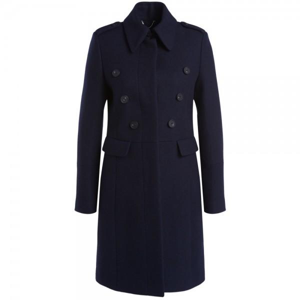 Mantel aus Wolle mit hohem Kragen