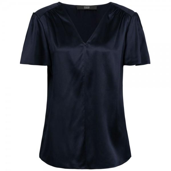 Bluse STELLA aus Seide mit V-Ausschnitt
