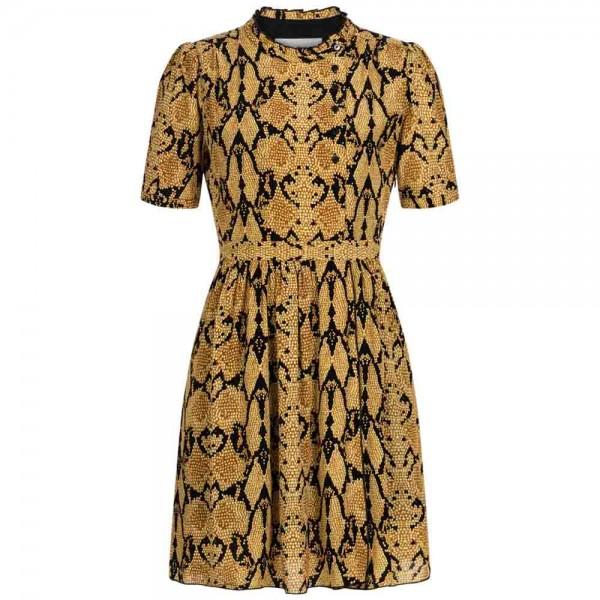 Mini-Kleid CASCADE mit Snake-Print aus Viskose
