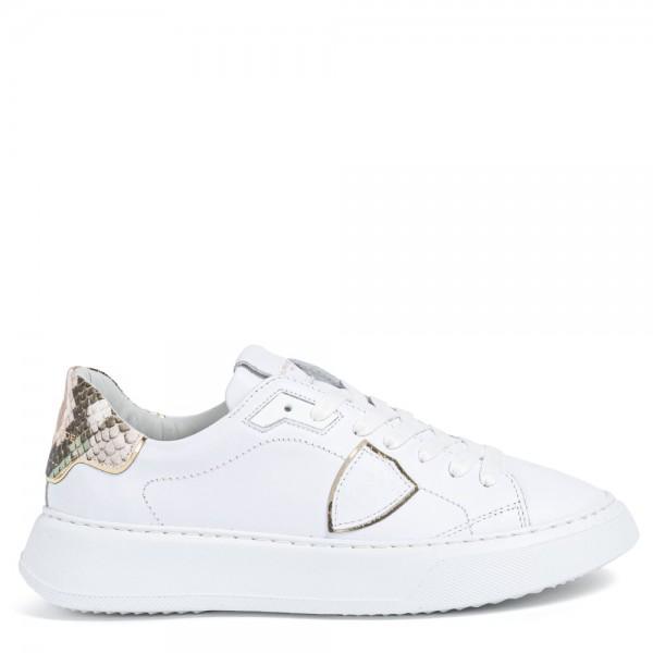 Sneaker TEMPLE Animalier Blanc Vert
