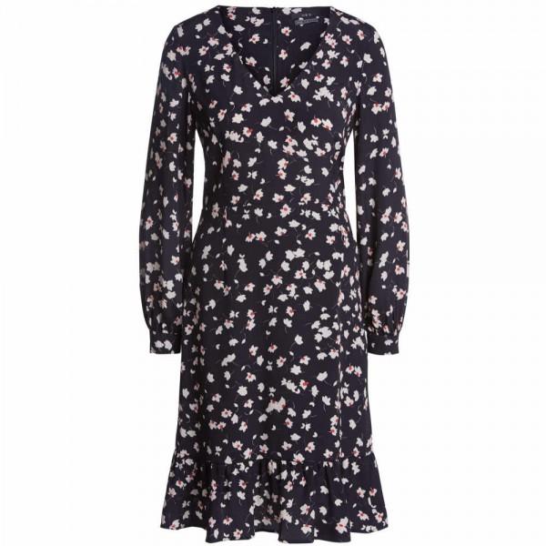 Kleid mit V-Ausschnitt und Volants