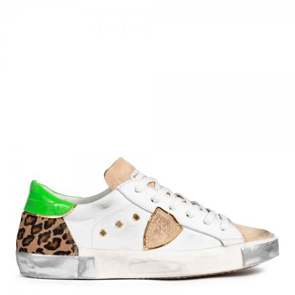 Sneaker FANCY POP BLANC LEO aus Leder